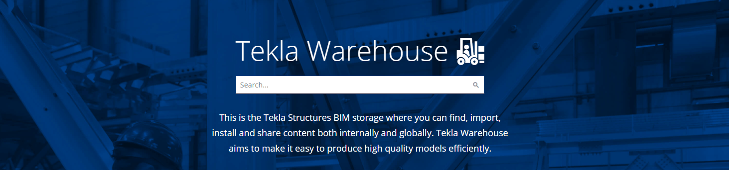 Tekla warehouse banner